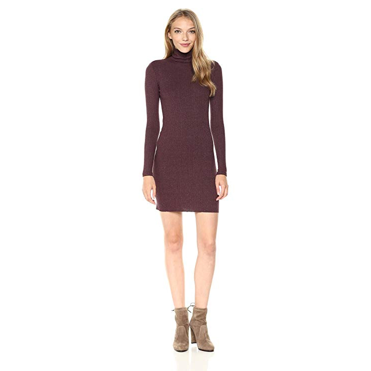 Enza Costa Rib Turtleneck Midi Dress.. Fashion Empire Design Studio App.