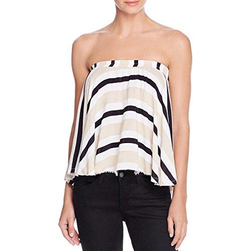 Faithfull The Brand Womens Striped Open Shoulder Tube Top.