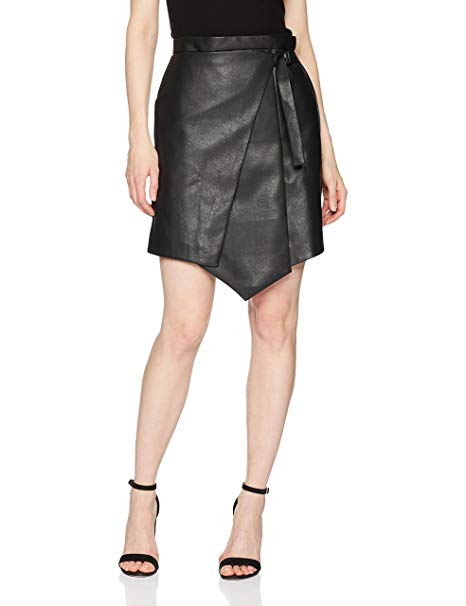 BCBG MAX AZRIA Yulissa Faux-Leather Wrap Skirt