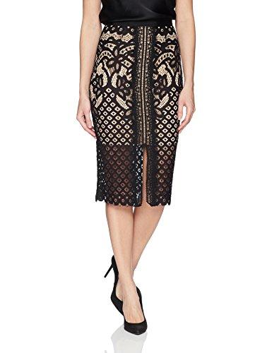 Keepsake The Label Women's Bridges Lace High Waisted Illusion Midi Straight Skirt