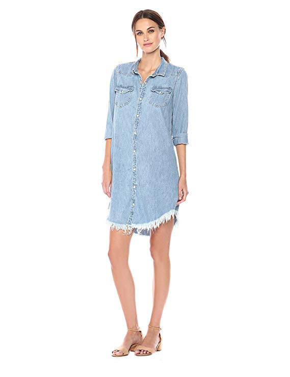 Lucky Brand Women's Western Shirt Dress. Cowgirl Fall 2018.
