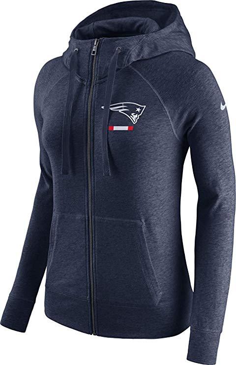 Nike  New England Patriots Full Zip Vintage Gym Hoodie.