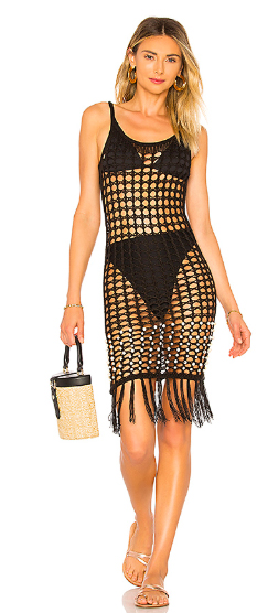 Crochet Net Slip Dress by Tularosa.  CLICK IMAGE TO PURCHASE.