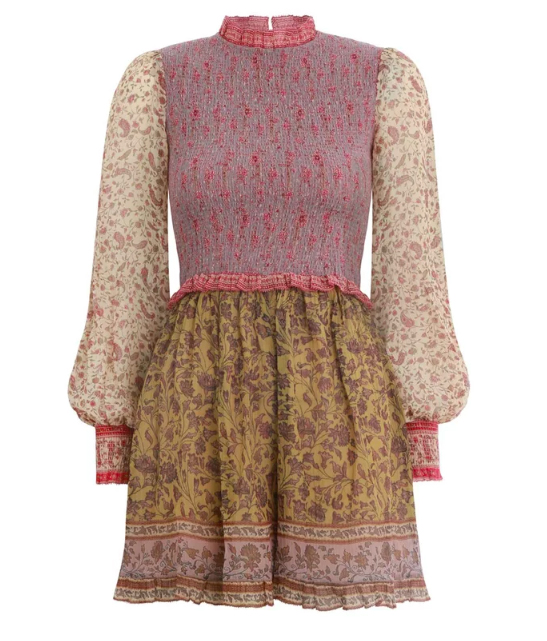 Zimmermann Juniper Shirred Playsuit in Spliced.  CLICK IMAGE TO PURCHASE.
