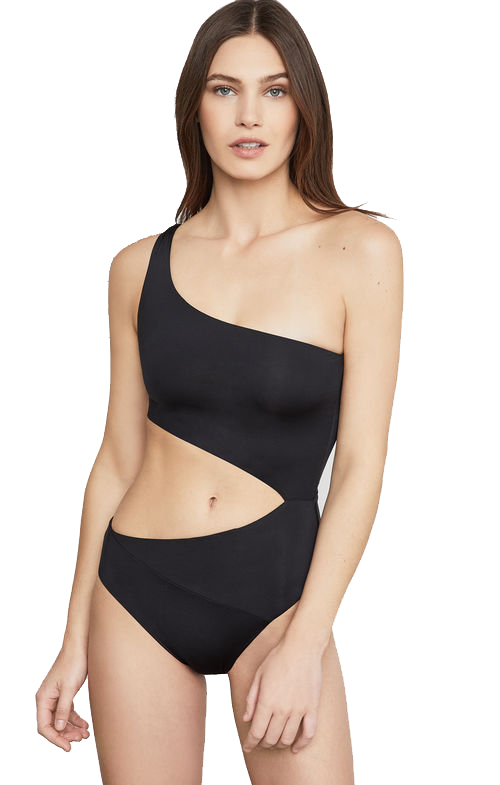 BCBG One Shoulder Cutout One-Piece Image