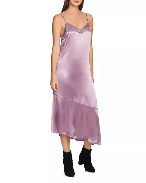 Asymmetrical slip dress by 1.state